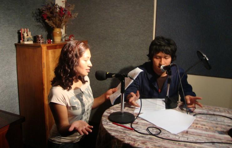 Peru 2009 La Cuesta - Aufnahme Radioprogramme